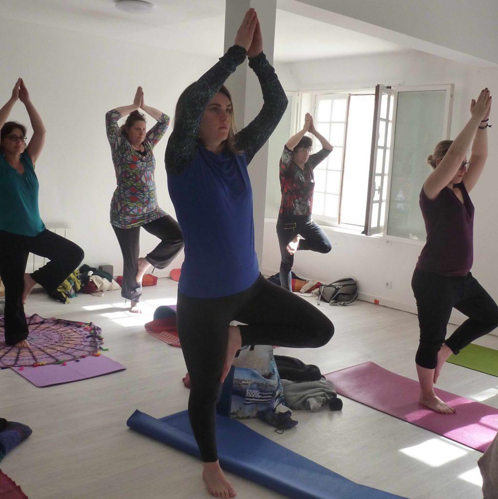 Image d'un cours de yoga